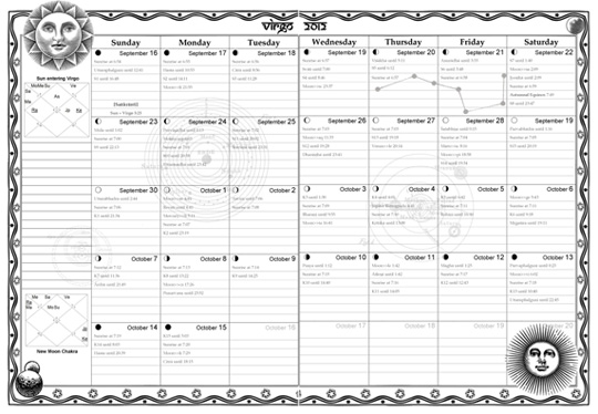 Monthly Vedic Planner